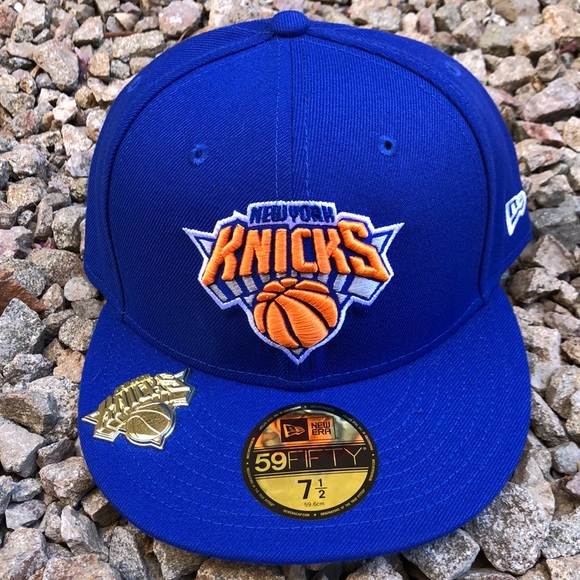 Gold Plated New York Knicks Exclusive Fitted Hat